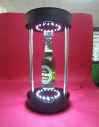 acrylic wine bottle display magnetic floating bottle display led