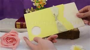 lemon yellow color wedding invitation card youtube