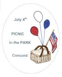 Concord Massachusetts Map by Picnic In The Park 07 04 17