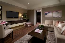 living area with luxury vinyl plank flooring contemporary