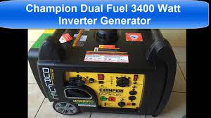 champion dual fuel 3400 watt generator inverter youtube