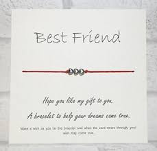 wedding message for a friend wish bracelet message tibetan charm card birthday best friend