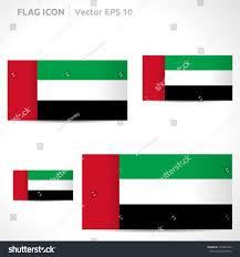 Colors Of Uae Flag United Arab Emirates Flag Template Vector Stock Vector 145885103