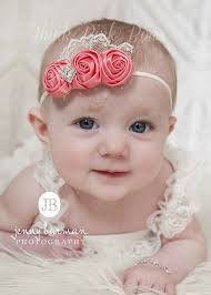 headband baby coral baby headband newborn headband flower by thinkpinkbows