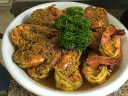 cuisine reunion prawn curry from la reunion island stock photo image of