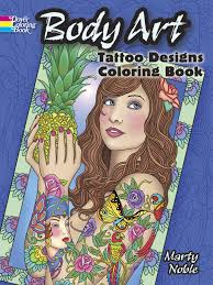 body art tattoo designs coloring book