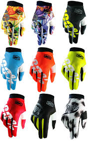 100 motocross gloves 100 itrack motocross gloves enduro racing mtb bmx 100 percent new