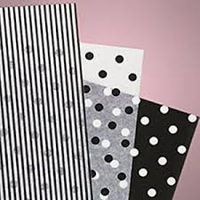 Tissue Paper Gift Wrap - 18 sheets black white tissue paper gift wrap craft 6 sheets ea
