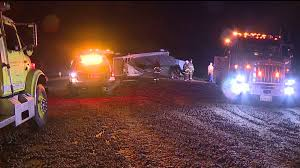 Flag City Lodi Big Rig Spills Load Of Walnuts Across Highway 12 Causing Deadly