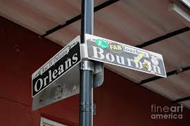 bourbon sign corner of bourbon and orleans sign quarter new