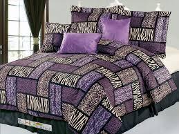 Faux Fur Comforter Hg Station 7 Pc Big Cat Feline Modern Rectangle Patchwork Leopard