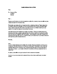 resignation letter sample for personal reasons u2013 businessprocess