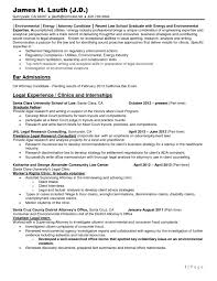 Resume Sample Yale by Law Resume Template