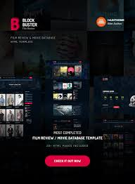 blockbuster film review u0026 movie database html template by haintheme