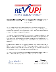 How Many Weeks In A Year National Disability Voter Registration Week Aapd