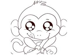 pretentious design monkey printable coloring pages cute animal