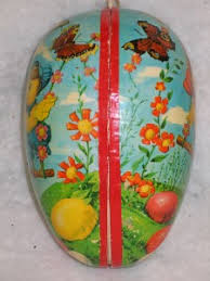 paper mache egg vintage german paper mache easter egg candy container ebay