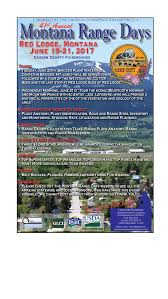 Red Lodge Montana Map by Montana Range Days 2017 Range Days