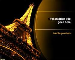 free paris word with eiffel tower ppt templates u2013 free powerpoint