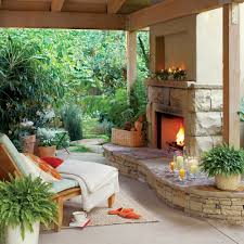Backyard Covered Patio Ideas by Welcoming Winter Patios Sunset
