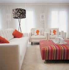 white tufted sofa living room eclectic with accent chairs artwork