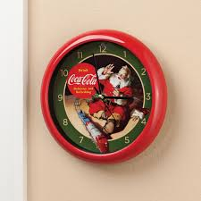 coca cola carol clock wall clock kimball