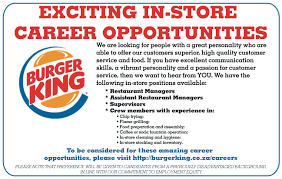 burger king team member resume burger king jobs