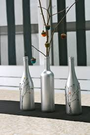 silver wine bottles tree branch centerpiece the bright ideas