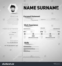 Minimalist Resume Minimalist Cv Resume Template Simple Design Stock Vector 364964297