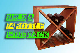 how to make a 24 bottle wine rack storage cube youtube