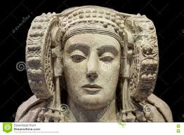 lady of elche most important piece of iberian art stock photo