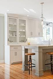 Hutch Kitchen Cabinets Sliding Door Hutch Transitional Kitchen Pennville Custom