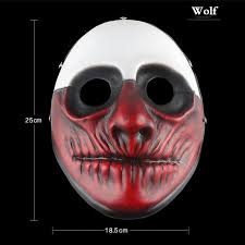 horror movie mask theme prop payday hoxton game demon joker face