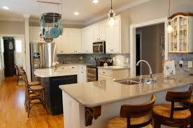 Kitchen Peninsula Design Kitchen Island White Flat Cabinets Farmhouse Peninsula Kitchen