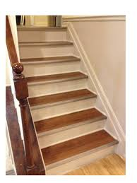white refinished stairs diy projects