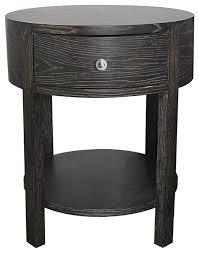 marvellous black round nightstand marlborough round bedside table