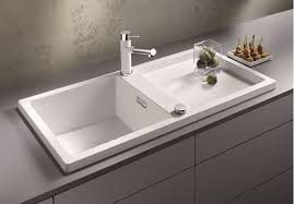 kitchen faucets and sinks kitchen white blanco sinks and matching kitchen faucet on gray
