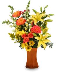 charleston florist autumn excitement arrangement in charleston sc charleston
