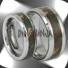 camo wedding rings his and hers photo gallery of his and hers camo wedding bands viewing 2 of 15