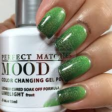 lechat perfect match mood polish limelight soak off gel polish