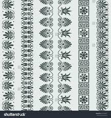 set traditional vintage greek ornament meander stock vector