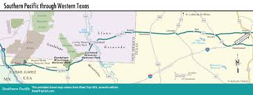 Map Of The State Of Texas The Southern Pacific Route In Texas U0026 New Mexico Road Trip Usa