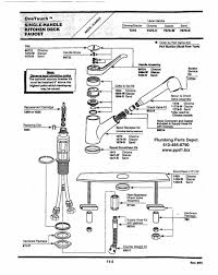 moen single kitchen faucet moen single handle kitchen faucet repair diagram best kitchen design
