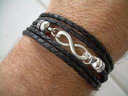 infinity bracelet leather images Leather bracelet infinity bracelet triple wrap jpg