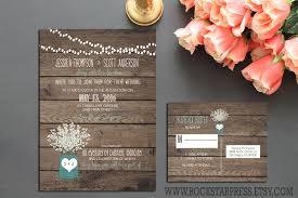 Rustic Wedding Invites Rustic Wedding Invitation Outdoor Country Style Baby U0027s Breath