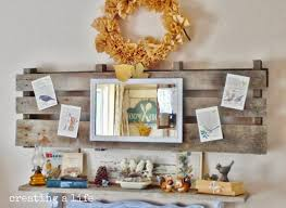 creating a life rustic pallet decor the autumn mantel