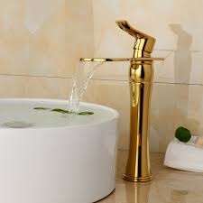 Gold Bathroom Fixtures by Aliexpress Com Buy Luxury Deck Mount One Handle Basin Sink Gold