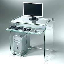 bureau pc design bureau ordinateur design informatique en verre noir blanc laque