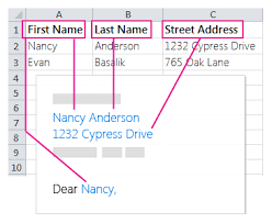 mail merge from excel insert mail merge fields word