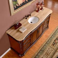 Bathroom Vanities 22 Inches Wide by Silkroad 72 Inch Antique Single Sink Bathroom Vanity Cream Marfil